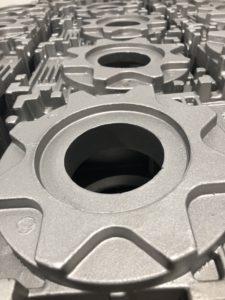 Odlew aluminiowy śrutowany